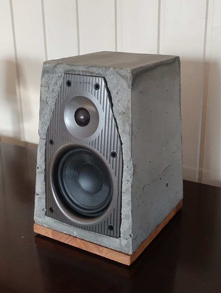 Concrete, oak speaker with chromcast audio, wireless