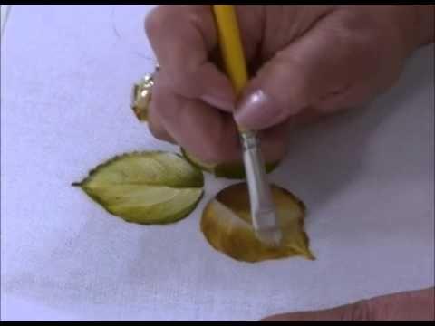 Come dipingere sulla stoffa. Corso per principianti. - YouTube