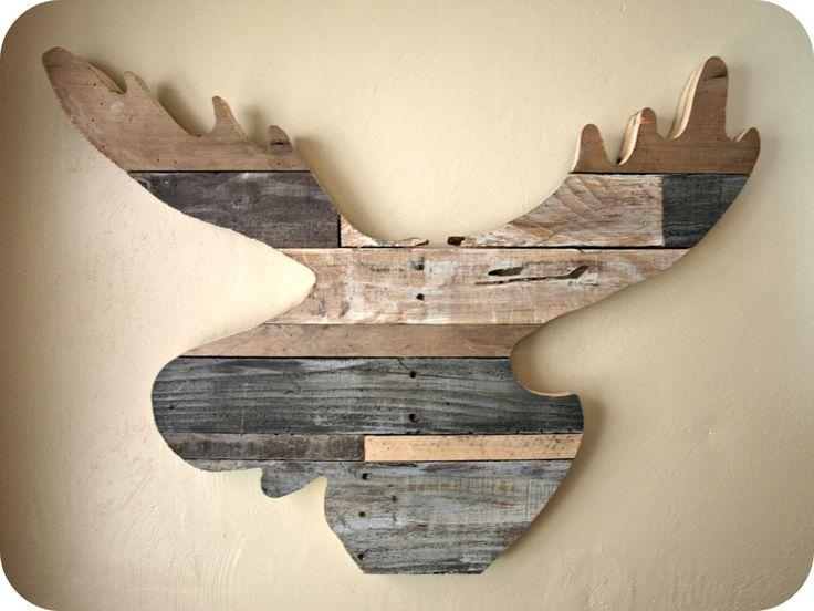 Reclaimed wood moose head tutorial - Simply Swider