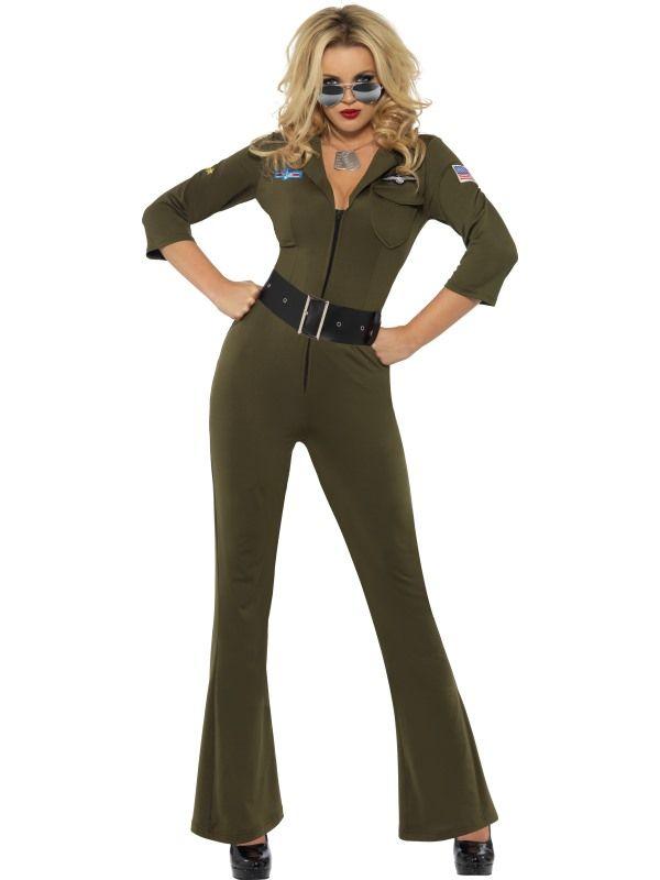 Top Gun Dame - Kostymer for voksne