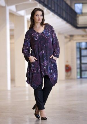 exelle, voile tunic with print