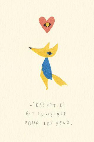 L'essentiel est invisible pour les yeux. Antoine de Saint-Exupéry  Illustration by Hiyoko Imai.