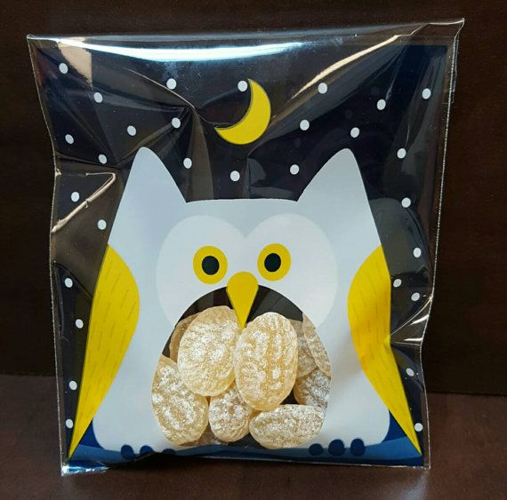 Owl treat bags. https://www.etsy.com/listing/478661087/owl-treat-bags-set-of-10-free-shipping