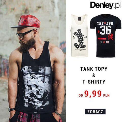 Plan na niedzielny poranek? Zakupy! Na Denley.pl czeka na Was ogromny wybór naszych tank topów i t-shirtów - oryginalne wzory, kolory i przede wszystkim - gorące ceny! Zobacz: tank topy - od 9,99  t-shirty - od 9,99