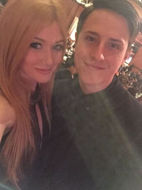 Katherine McNamara and Shane Harper