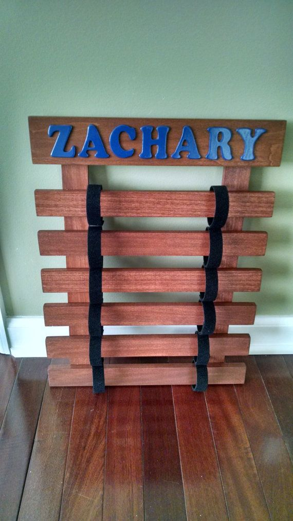 Personalized Karate Belt Display Rack by BandGCrafts on Etsy