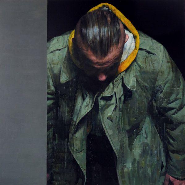 """ Le Grand Serviteur"" olio su tela (162x162) Francois Bard (Lille 1959) Galerie Olivier Waltman"