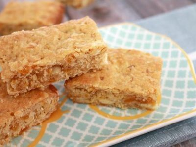 Apricot and White Chocolate Oat Slice recipe