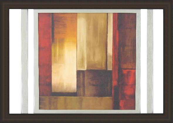 "Aaron Summers - Crossover I | Double Framed with a Canvax finish. Custom Designed abstract art. 49""x35"" - $199.97 