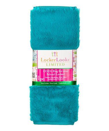 Look at this #zulilyfind! Blue Plush Fur Locker Rug by LockerLookz, $9 !! #zulilyfinds