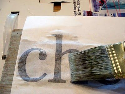 Painting words on wood sign Tutorial: Vintage-looking painted sign from salvaged wood