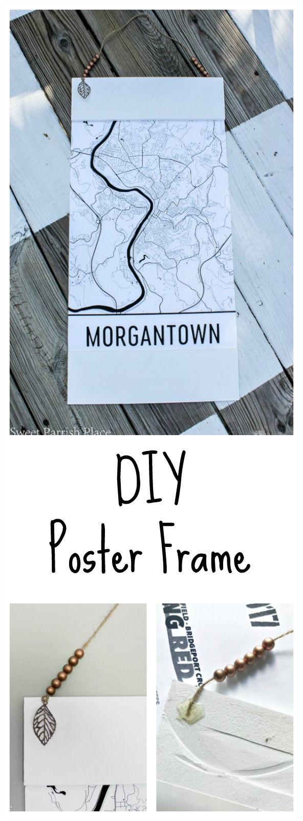 Poster design diy - Modern White Diy Poster Frame Sweet Parrish Place Great Idea For Hanging Art On