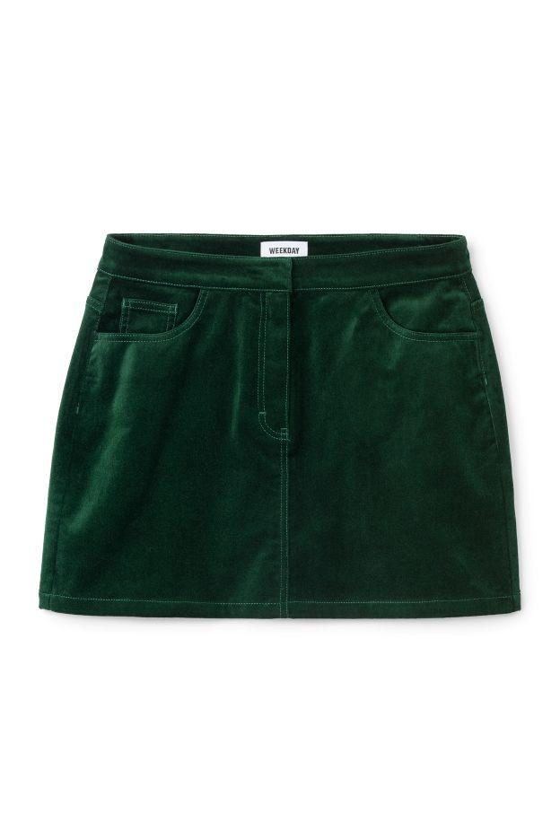 Weekday image 3 of skirt in Green Bluish Dark