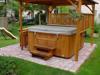 17 best ideas about backyard hot tubs on pinterest hot for Hot tub designs and layouts
