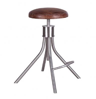 Flamant Tabouret Fowler Steel And Leather BarStool U2022Tabouret (French:  Stool) U2022The. Furniture UsaEuropean ...