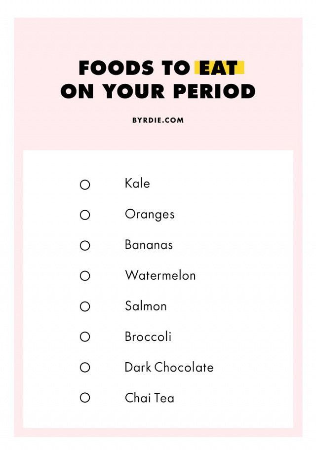 The best food to eat during your period