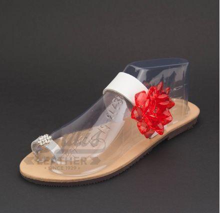 Plexiglass Μαργαρίτα Κόκκινη, Μεταλλική Μαργαρίτα Νίκελ Στρας #Swarovski #sandals #leathersandals #accessories #handmadesandals