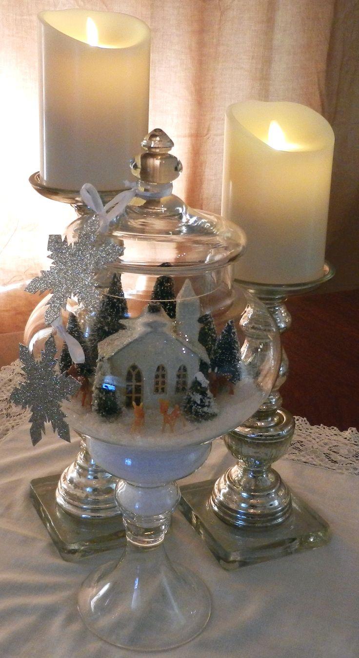 Christmas apothecary jar