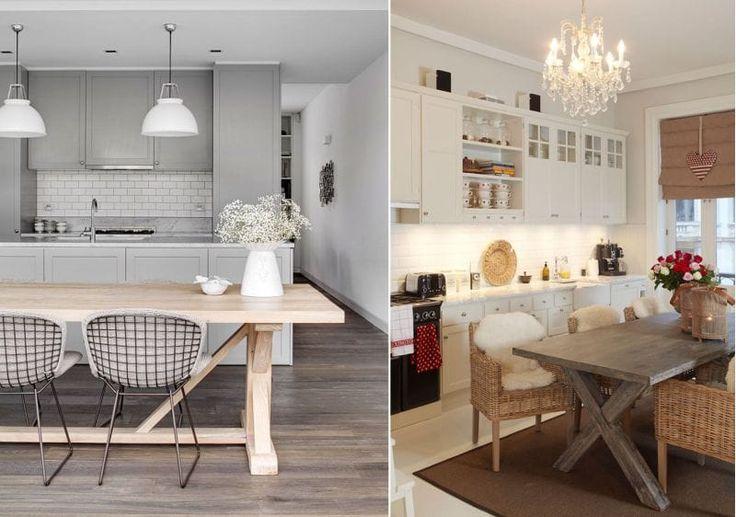Деревянные кухонные столы, стилизованные под садовые