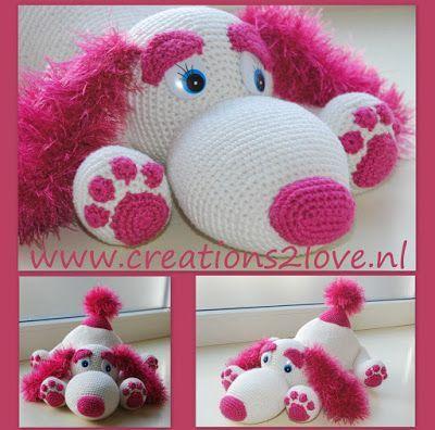 #Haakpatroon, Nederlands, Hondje Joy, amigurumi, knuffel, speelgoed, #haken