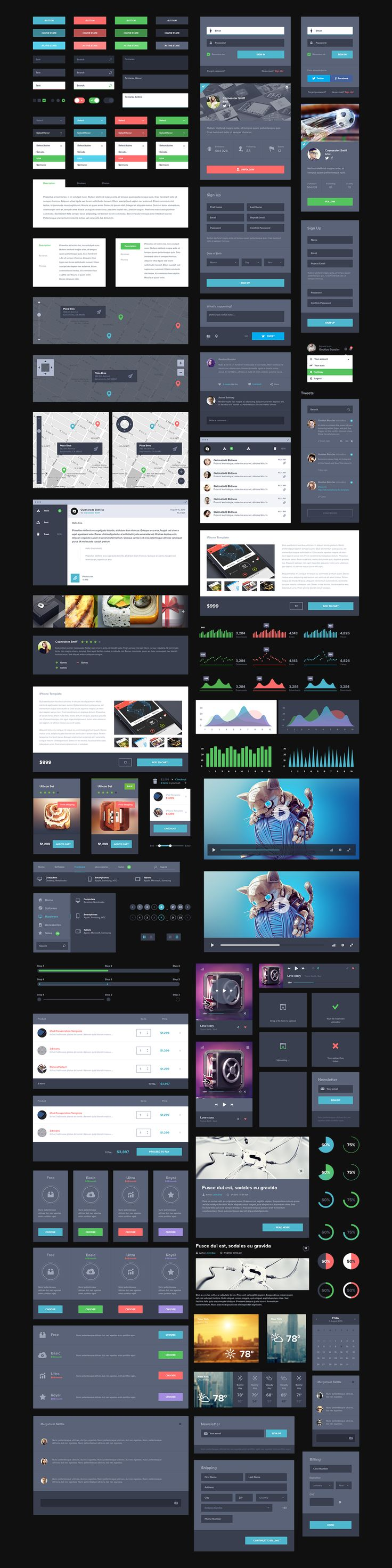 UI Kit Dark [Free] by Creativedash