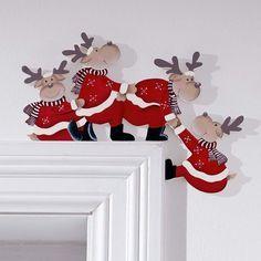 """Türrahmendeko """"Purzelnde Elche"""" bei Gingar #Christmas:"""