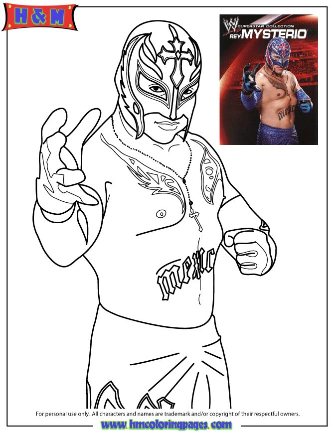 WWE Smackdown Rey Mysterio Coloring