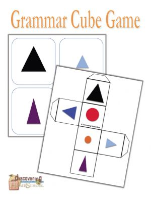 only $0.50 for back to homeschool sale! Grammar Cube game - Discovering Homeschool | Grammar | CurrClick