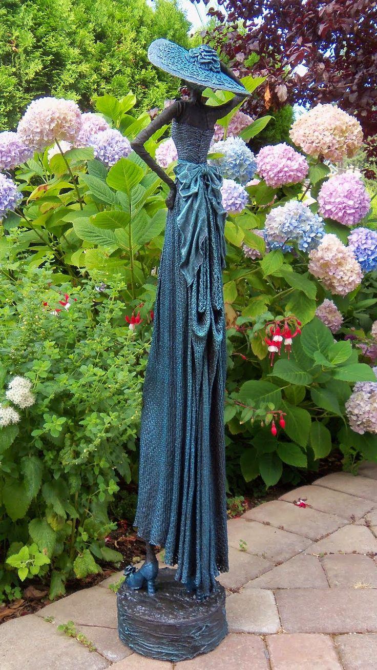 Beautiful fabric art statue