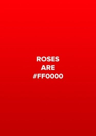 CSS Colours: Roses are Red