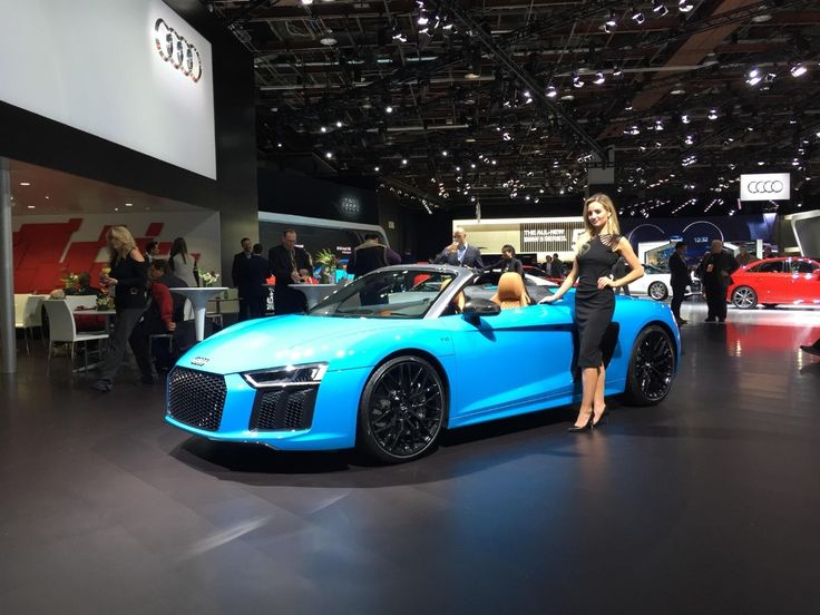 GALLERY: Cool cars at the Detroit Auto Show => The 2017 Audi R8 has a base price of  $162,900 and comes equipped with a 5.2-L V10 engine. (Sinclair Broadcast Group / Jill Ciminillo)