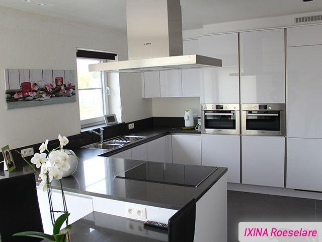 Keukenrealisatie ixina roeselare greeploze keuken for Cuisine ixina