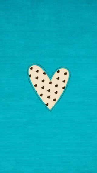 Turquoise aqua black white mini hearts iPhone wallpaper phone background lock…