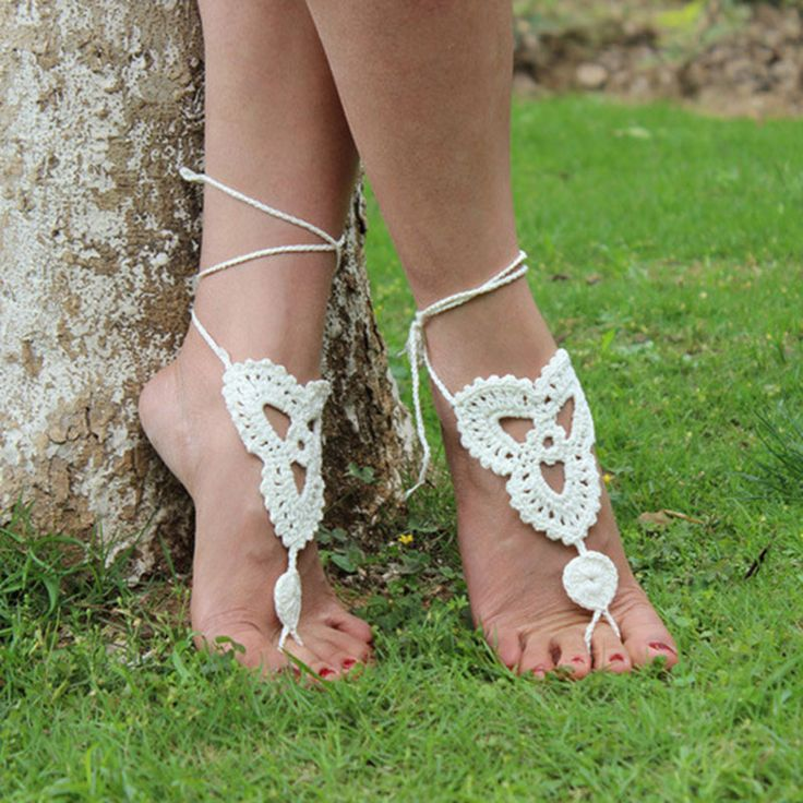 1 PCS Sexy Beach handmade rope Anklet Crochet Barefoot Sandals Anklet Barefoot Sandles Foot Jewelry Free shipping