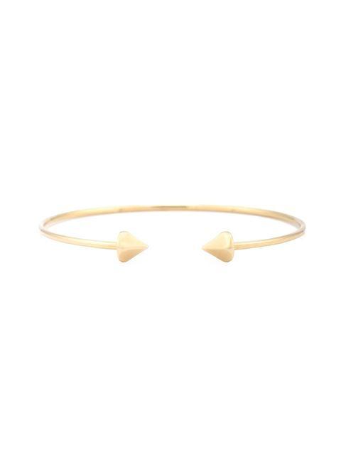 Rosa De La Cruz браслет из чистого золота в виде незамкнутого кольца
