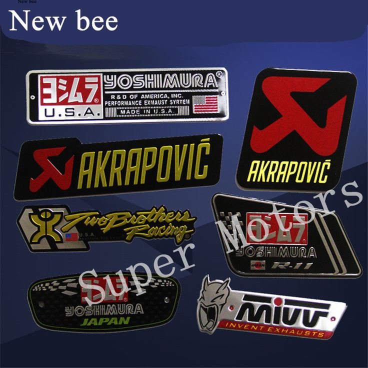 Newbee Aluminum 3D Heat-resistant Motorcycle Exhaust Pipe Sticker Cool Personality For Scorpio Yoshimura Emblem Akrapovic Decal