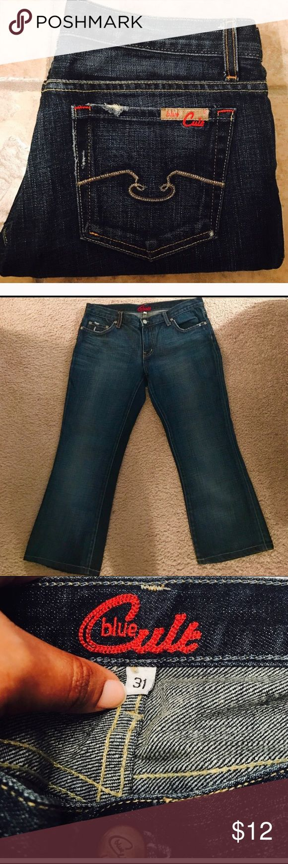 Blue Cult Women's Cropped Jeans Blue Cult size 31 inch waist. blue cult Jeans Ankle & Cropped