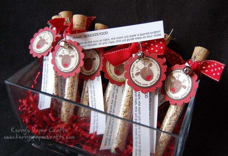 Magic Reindeer Food.  Would be so cute to do and have your kids handout at their christmas parties in school.