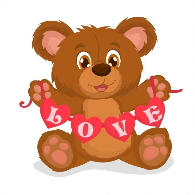 Teddy Bear In Love Holding A Garland Of Hearts Teddy Bear Clipart Romance Cute Png And Vector With Transparent Background For Free Download Teddy Bear Clipart Teddy Bear Bear Clipart