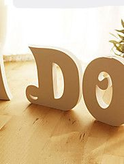 26 Freestanding Wood Wooden Simple Letters Whit... – USD $ 3.99