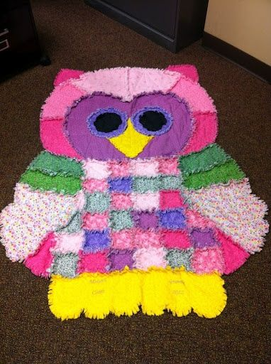 owl rag quilt.....oh no did I just find a new sewing project?! lol