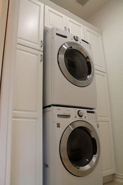 Laundry stacked washer and dryer Design Ideas, Pictures, Remodel and Decor
