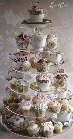 Cupcake Tea Time