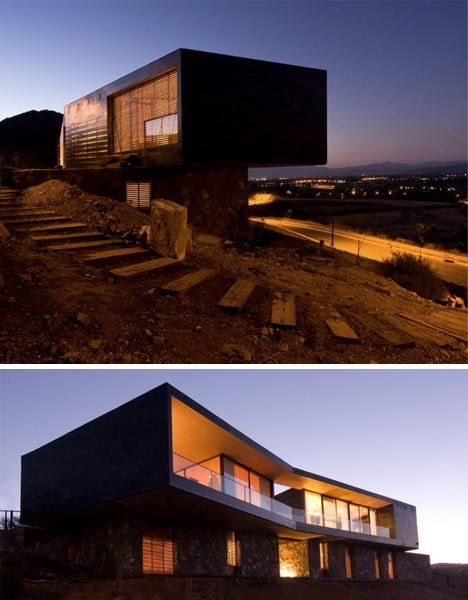modularhouse built into hill - Google Search