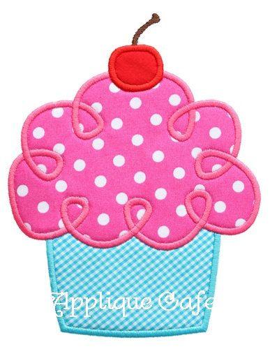 465 Loopy Cupcake Machine Embroidery Applique Design. $4.00, via Etsy.