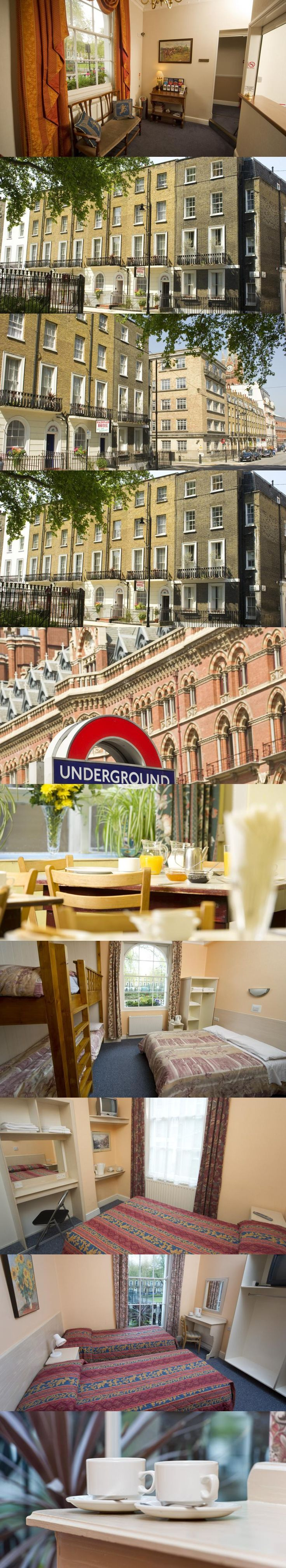 Macdonald Hotel. Just 150 metres from King's Cross St. Pancras, this bed and breakfast is 5 minutes' walk from St. Pancras International Rail Station, which offers Eurostar services to Europe.  Euston Rail Station is within a 15-minute walk. #London
