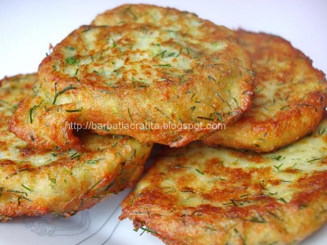 Chiftele din dovlecei cu branza - a favorite dish of my Romanian friend. Zucchini cakes
