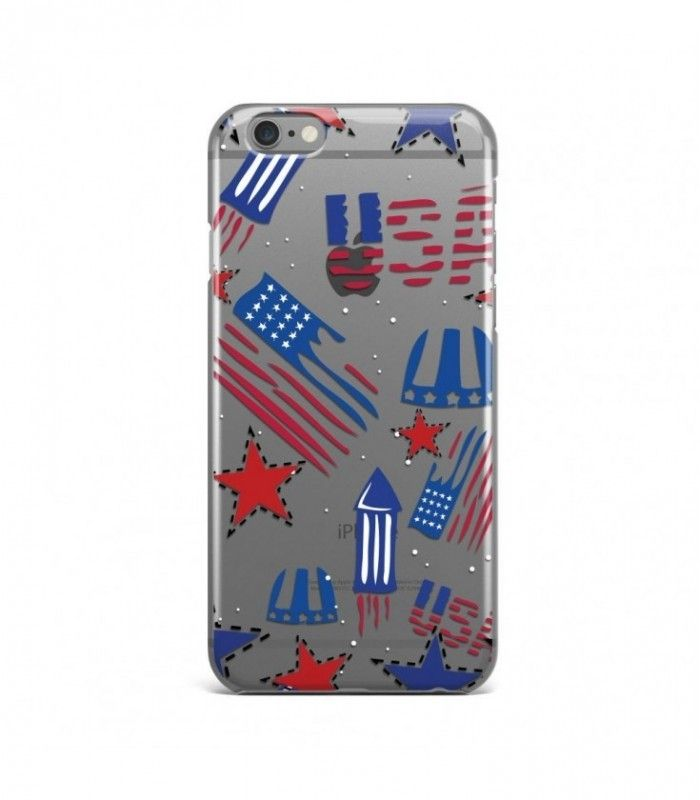 Wonderful Stars  American Pattern Clear or Transparent Iphone Case for Iphone 3G/4/4g/4s/5/5s/6/6s/6s Plus - USA0072 - FavCases