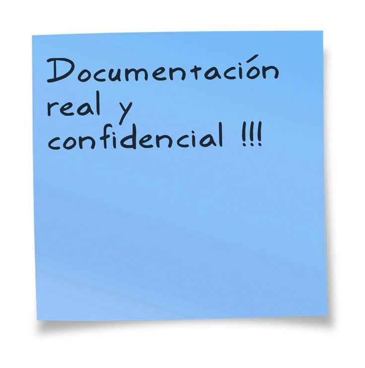 Documentación real y confidencial