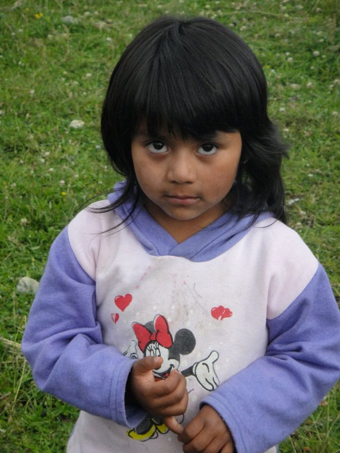 Mapuche Native Girl, Patagonia Chile. The people who harvest most of the maqui berry sold commercially are the Mapuche indians, who are indigenous to Chile. Photo by Zoe Helene